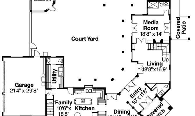 Central atrium home plans