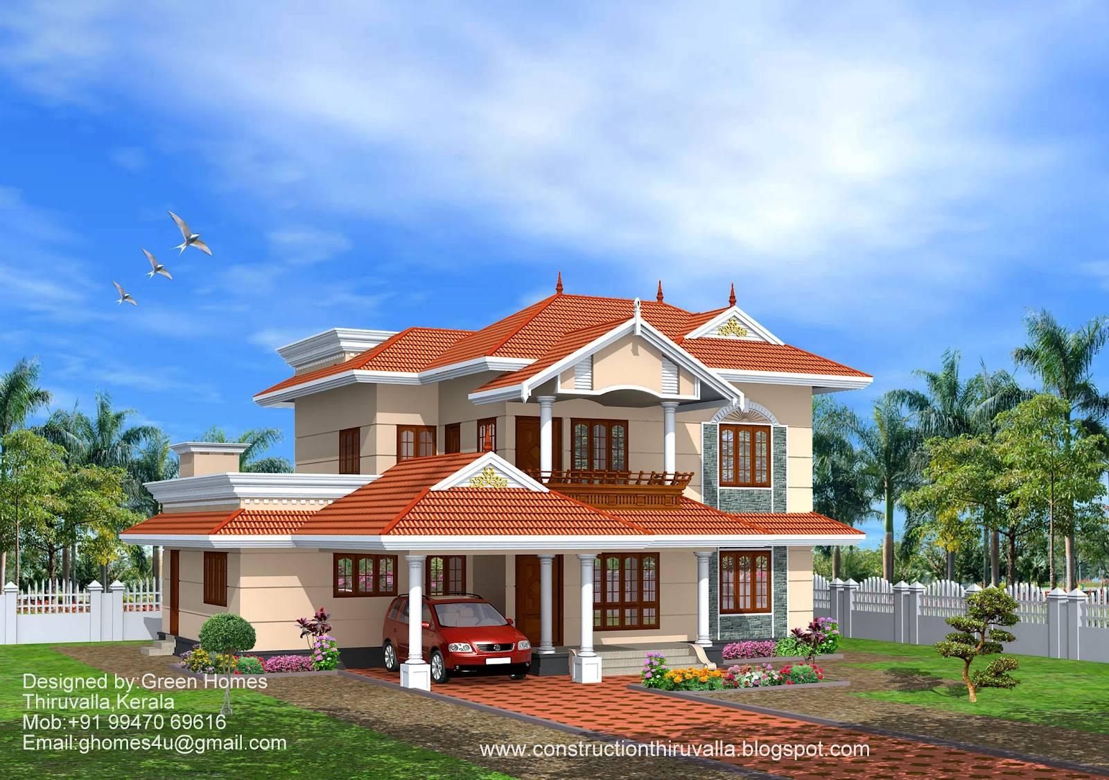 Green Homes Beautiful Kerala Model Home Feet House Plans