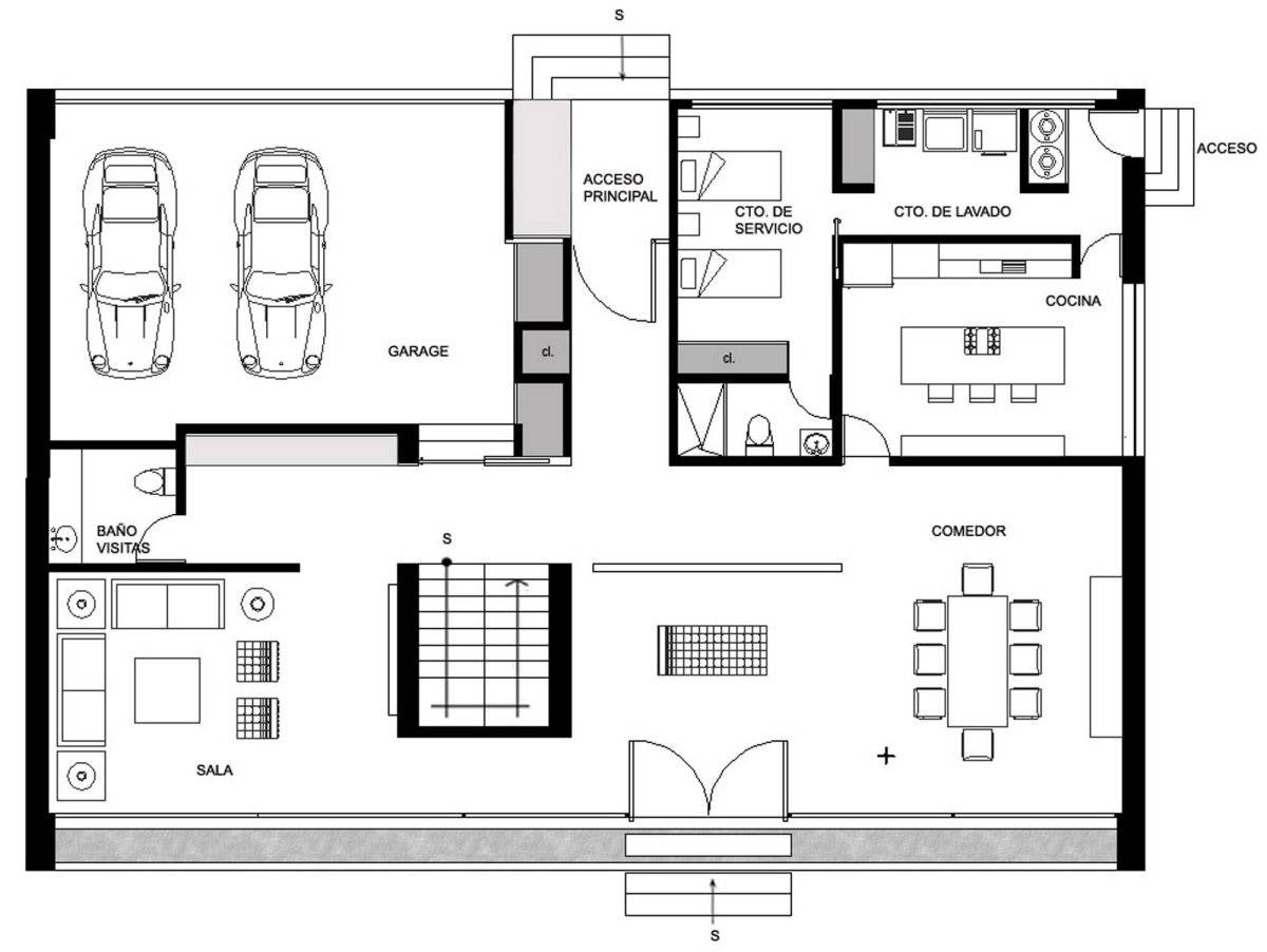 Ground floor plan house hidalgo mexico bitar arquitectos