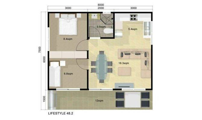 25 Simple 2 Bedroom Guest House Floor Plans Ideas Photo House
