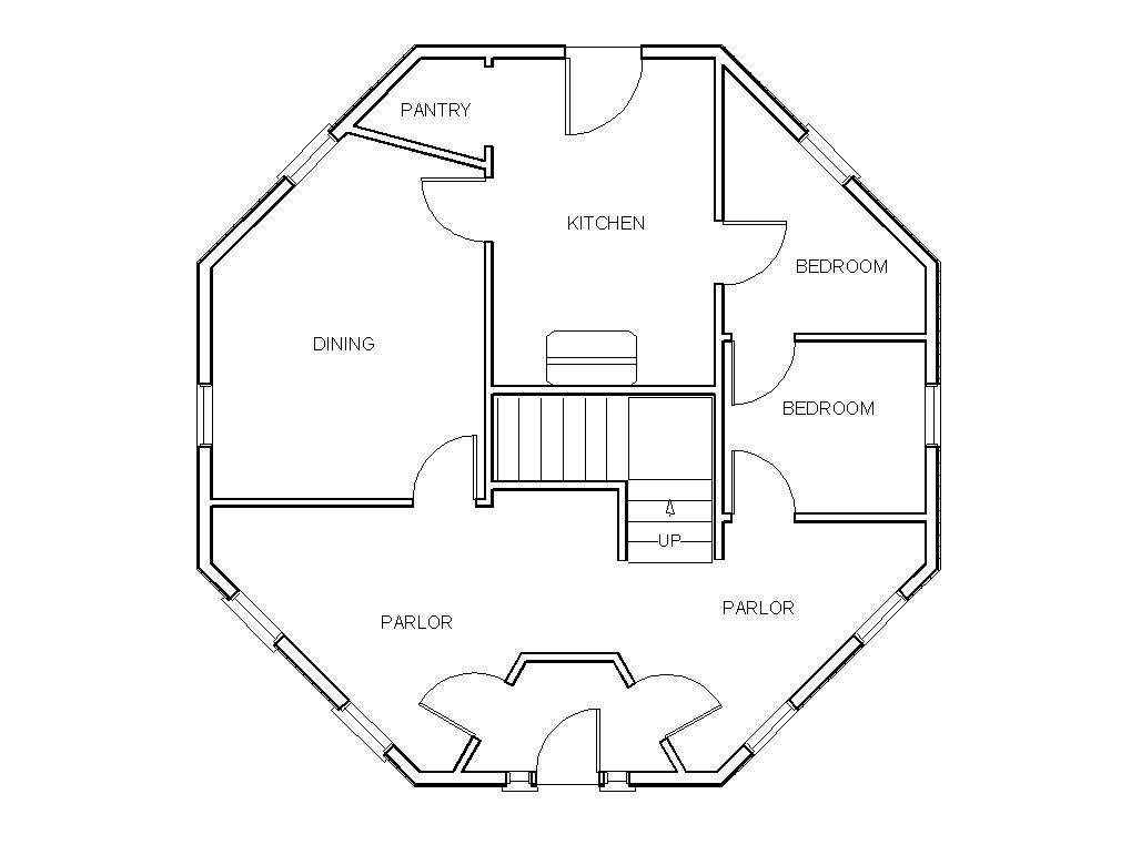 Gunnison Octagonal House Floor Plan History Grand Rapids