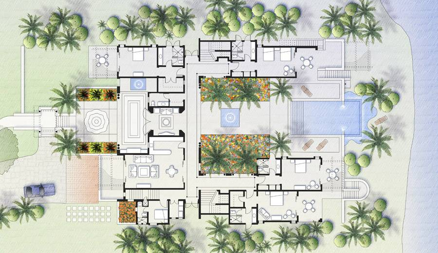 charming mexican style house plans #5: Mexican style house design
