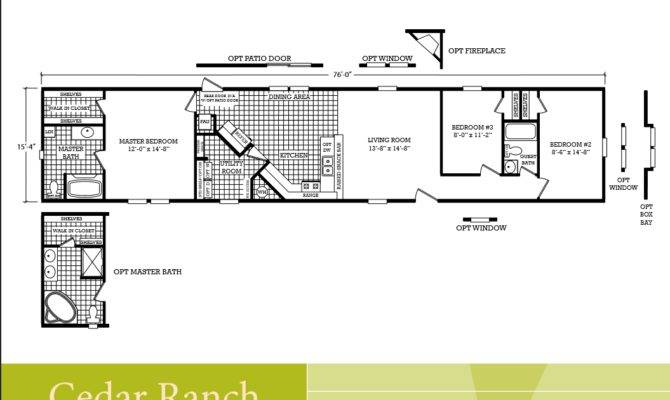 2 Bedroom 1 Bath Mobile Home Floor Plans Ideas House