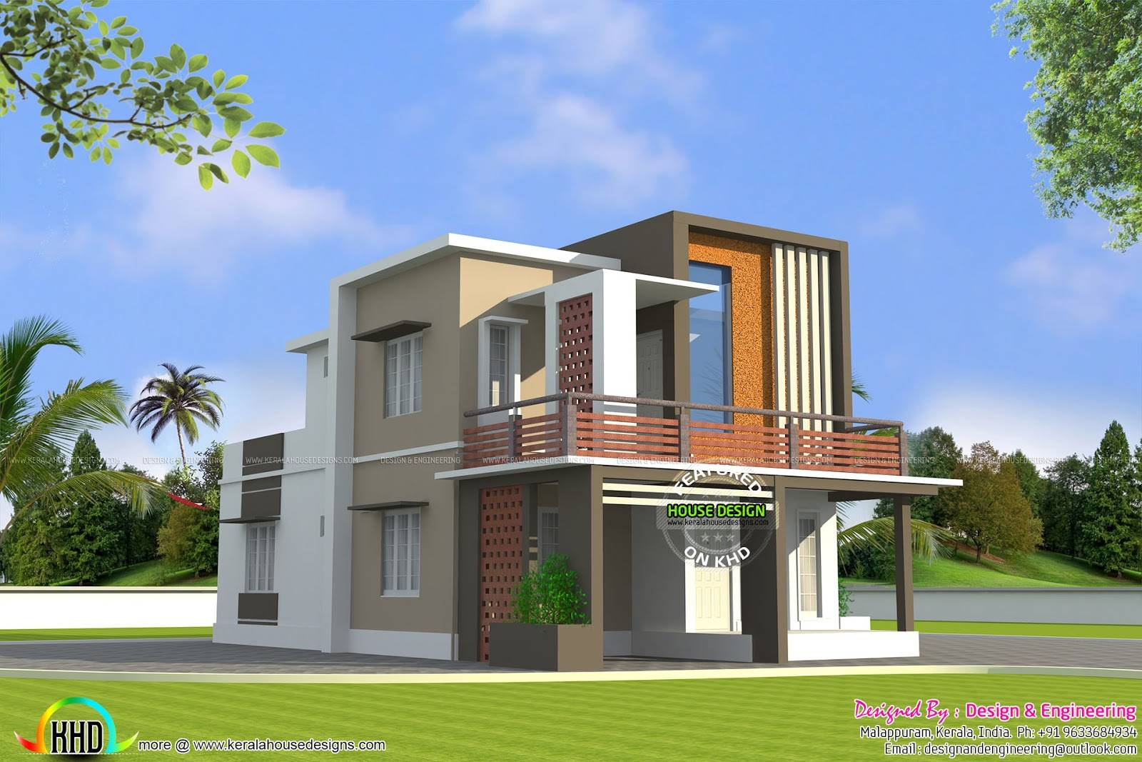 Designs houses outlook house design Low cost home design in india