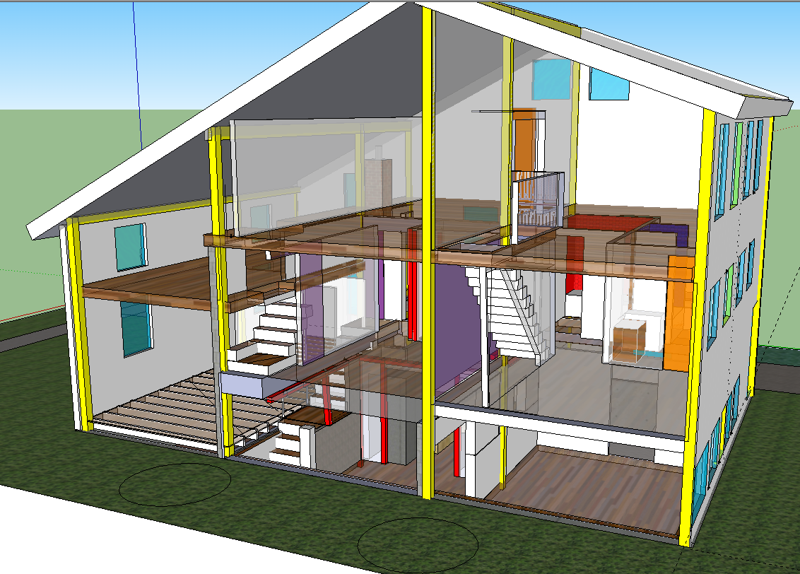 Home Remodling House Structure Cross Section House Plans