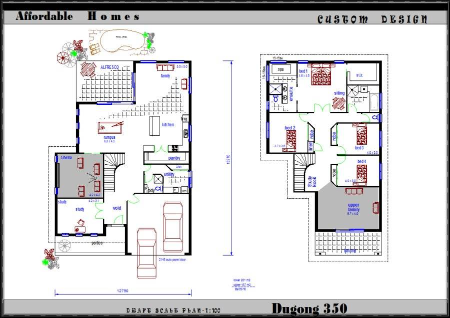 2 storey house plans philippines with blueprint - New Home Plan Designs