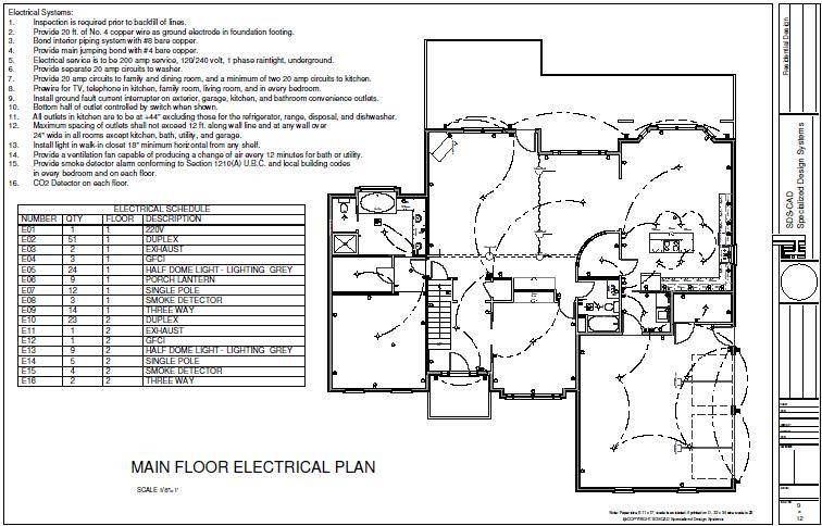 House main floor electric plan sds plans house plans for House electrical plan