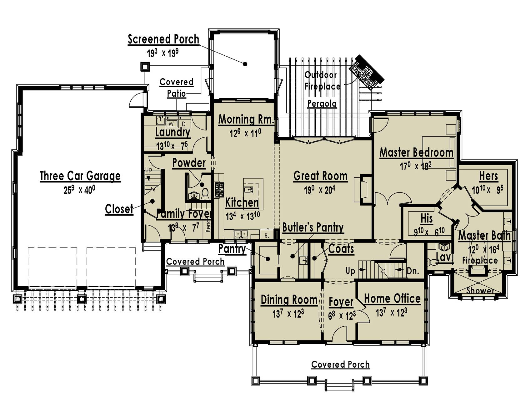 Luxury House Plans wo Master Suites - rts - ^