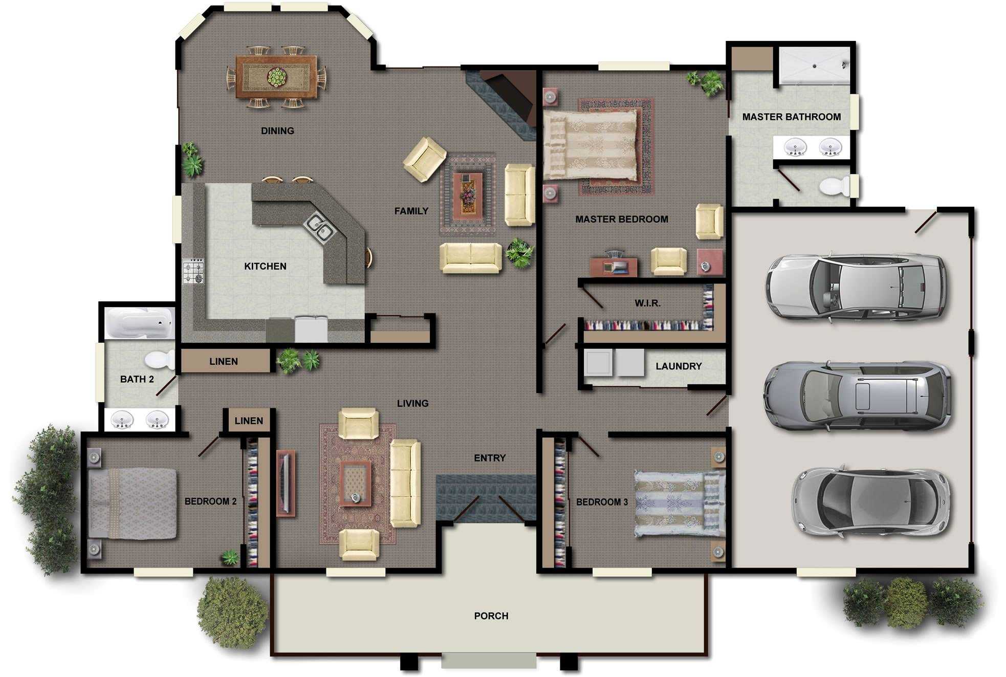 split floor plan guest house mother law suite located - house