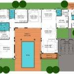 Floor Plan Indoor Pool Houses Plans Designs House Plans 77150