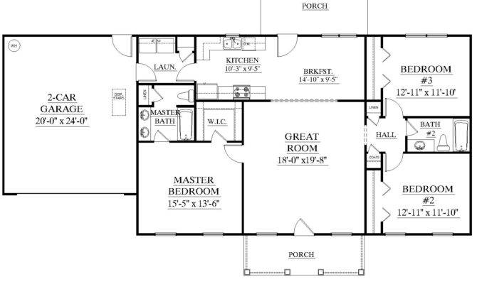 Single Story House Plans Without Garage Inspiration