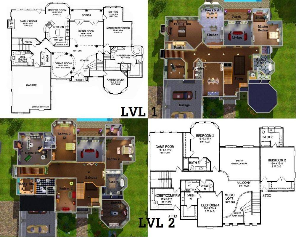 Layouts for sims houses
