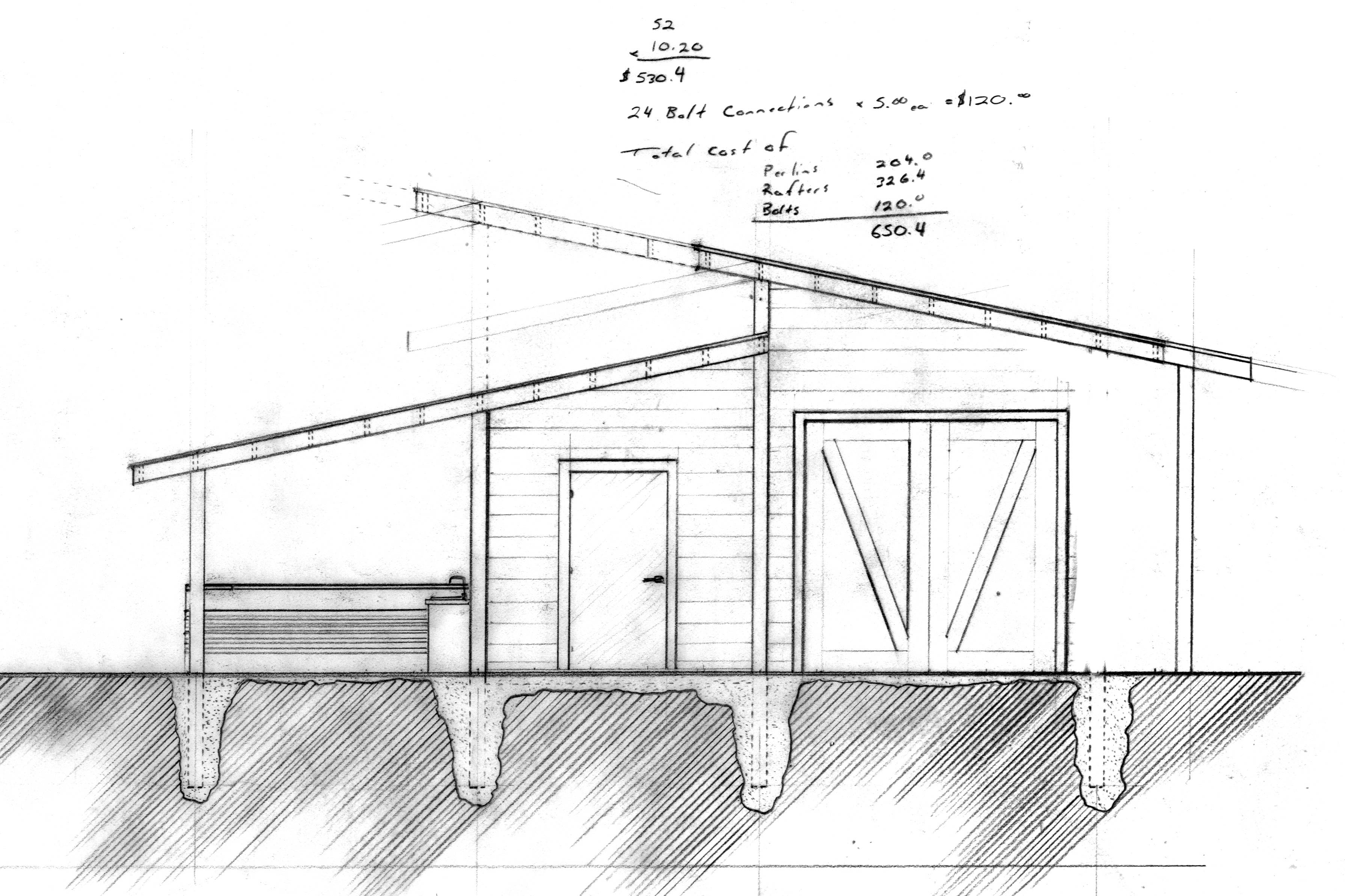 ^ Interlocking Shed oofs Longitudinal - House Plans #75144