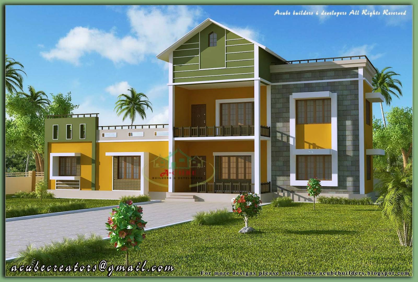Kerala House Model Sloping Roof Elevation. 27 Best Photo Of House Models And Designs Ideas   House Plans   78776