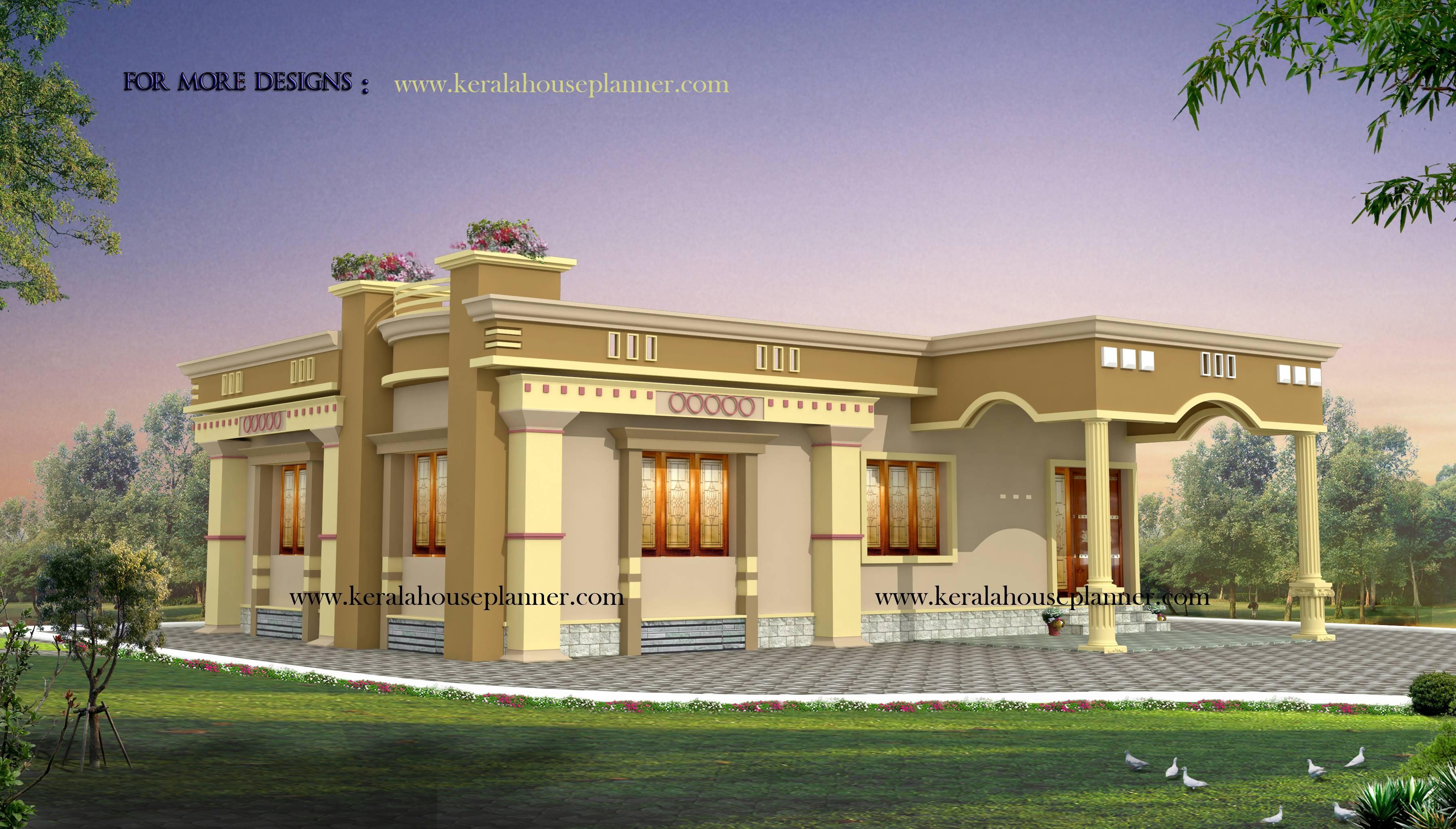 ^ Single Storey Flat Home Design Simple House Designs India 8 ...