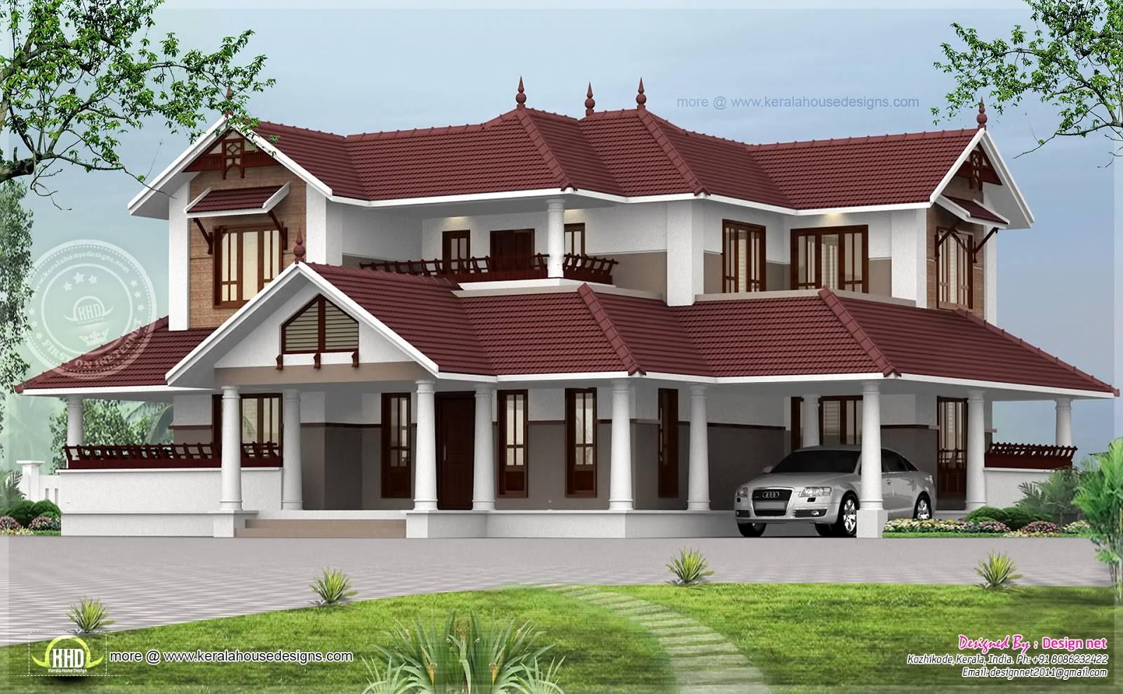 House exterior design pictures kerala for Exterior design company