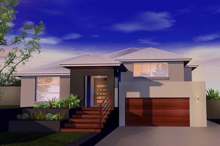Level home designs custom split fowler homes sydney nsw for Home designs sydney