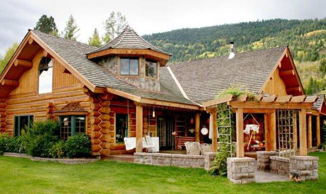 Awesome Log Cabin Style Home 23 Pictures House Plans 30745