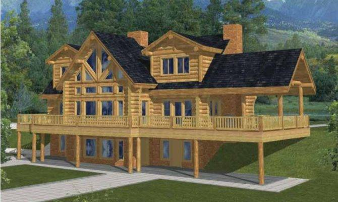 5  Log Houses House Plan Square Feet Bedrooms Dream. 21 Surprisingly 4 Bedroom Log Homes   House Plans   57304