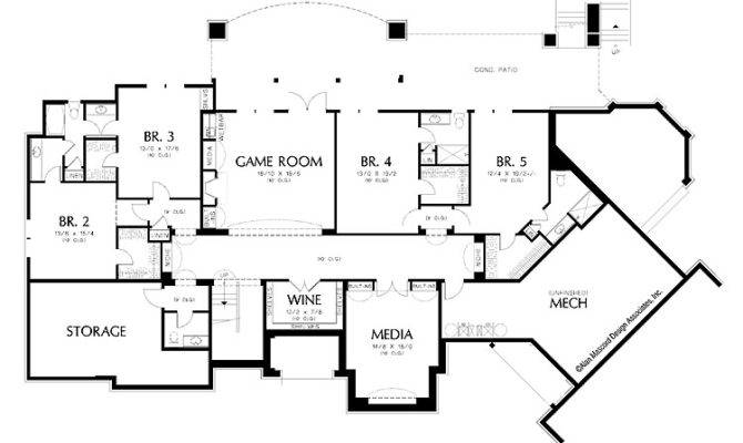 Smart Placement Luxury Homes Floor Plan Ideas - House Plans  14931 - ^