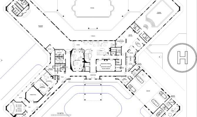 One floor minimalist house plans - 25 Genius Big Mansion Floor Plans House Plans 68818