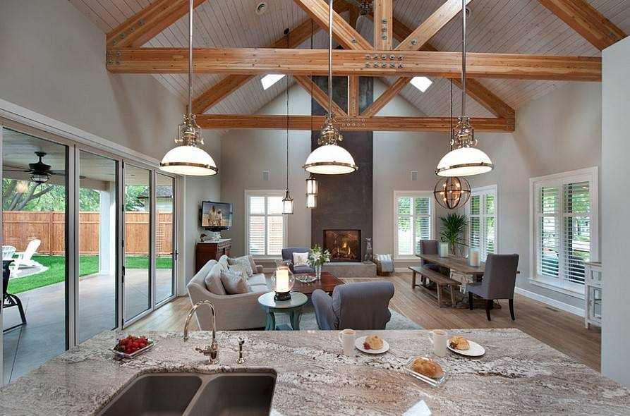 15 Spectacular Kitchen Dining Room Living Room Open Floor Plan