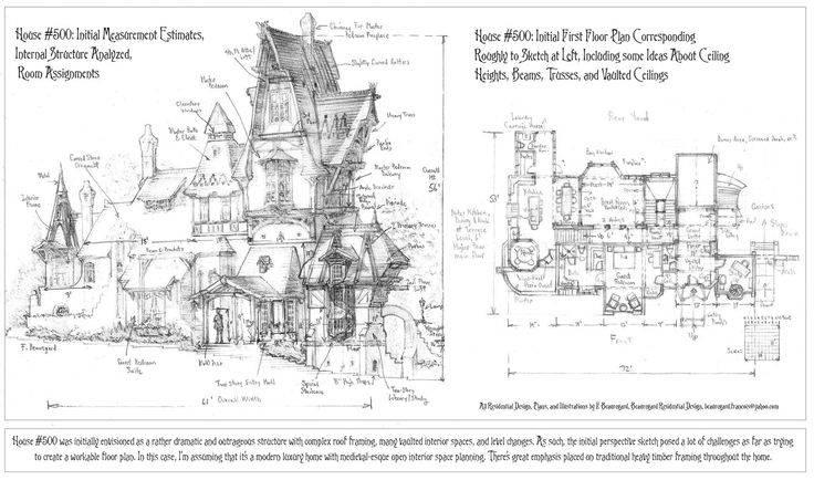 Fantasy castle house plans