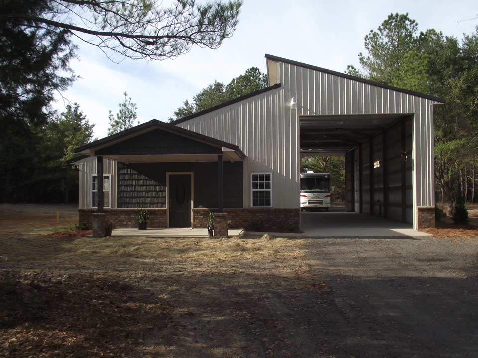 Metal garage buildings apartment residential workshop Metal building apartments