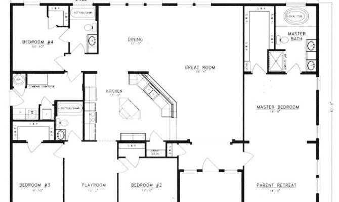 Metal Homes Floor Plans Inspiration House Plans 16635
