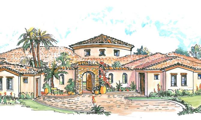 Mexican Hacienda Floor Plans Style House Hecho House