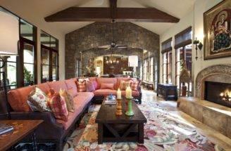 Mission Style Living Room Design