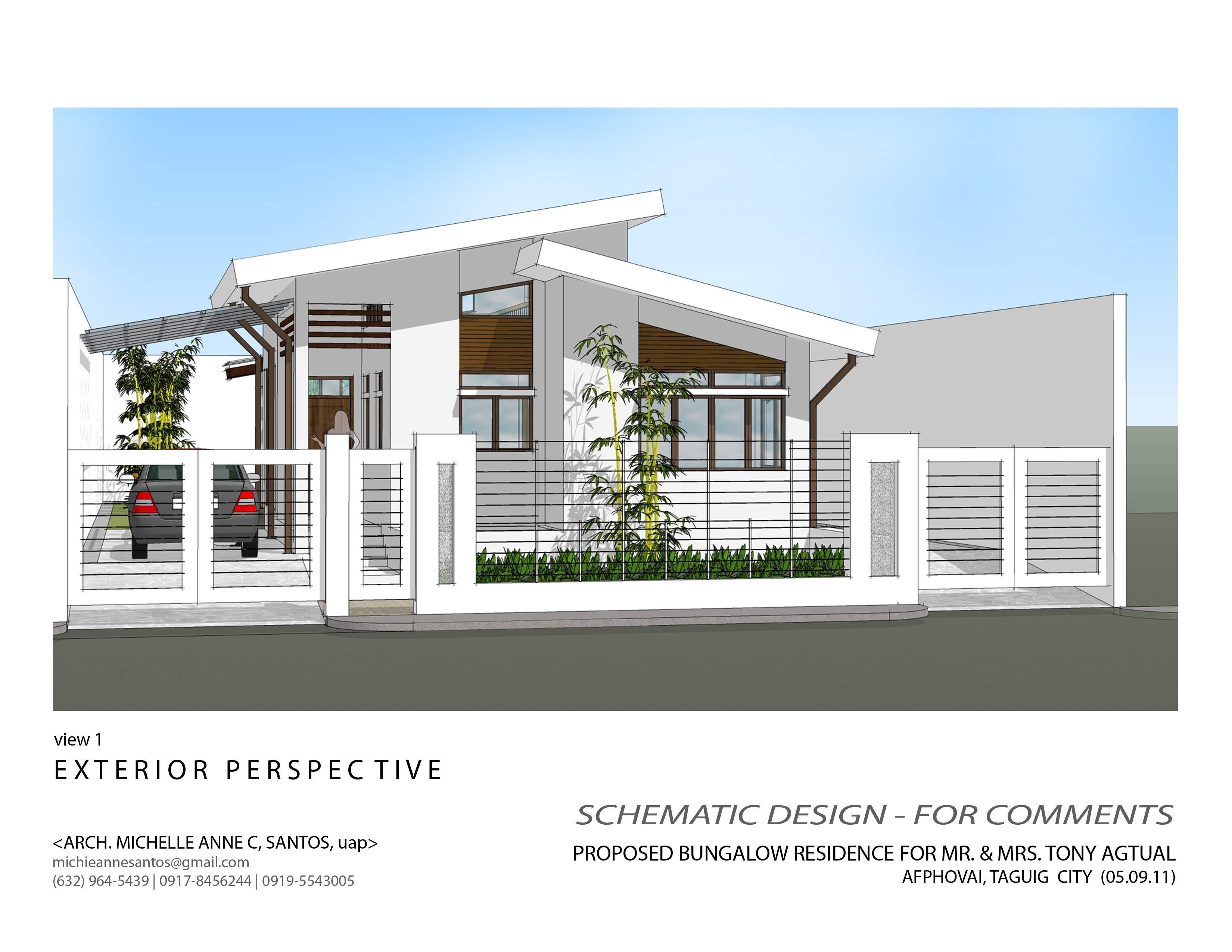 ^ Modern Bungalow House xterior Design Zen - House Plans #40840