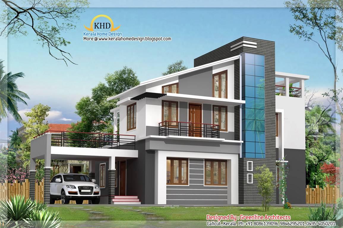 Modern Duplex Villa levation Kerala Home Design - House Plans ... - ^