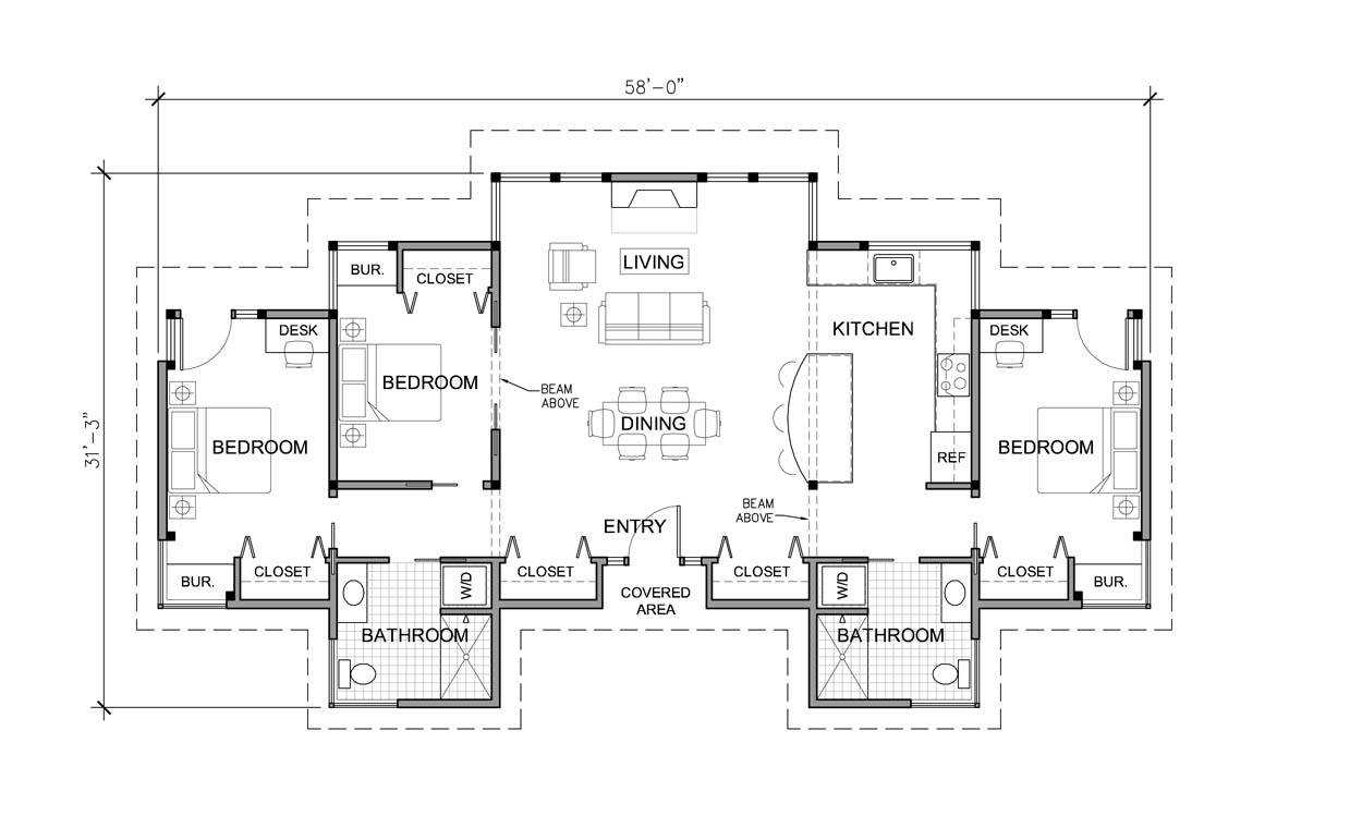one story modern house plans