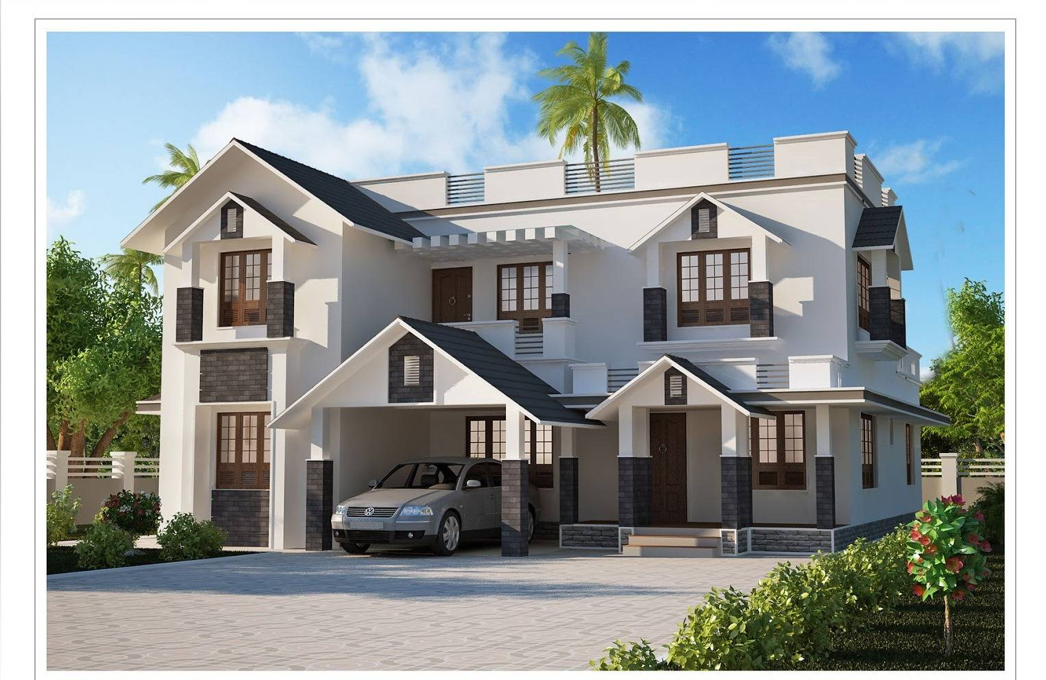 Modern House Plans In Kerala With Photo Gallery - rts - ^