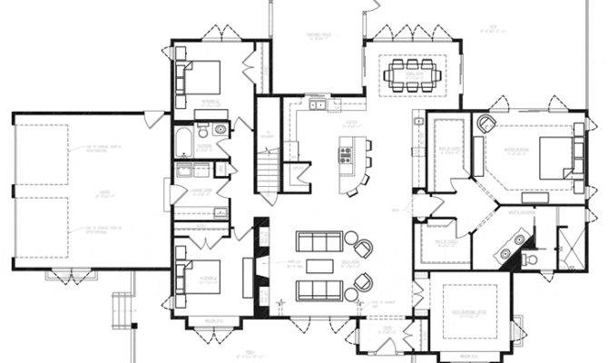 Luxury modern house floor plans