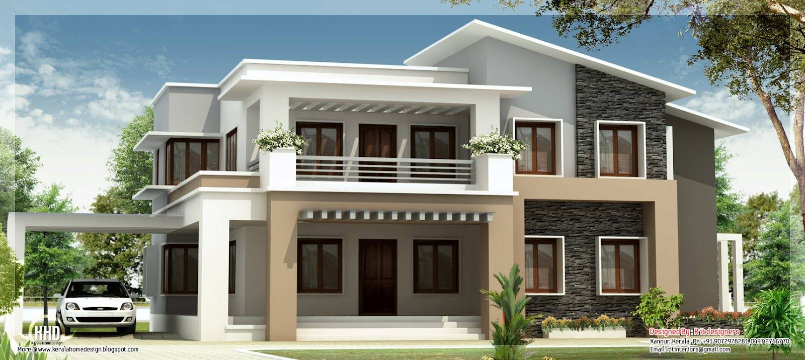 modern mix double floor home design indian house plans house - Modern Home Designs Floor Plans