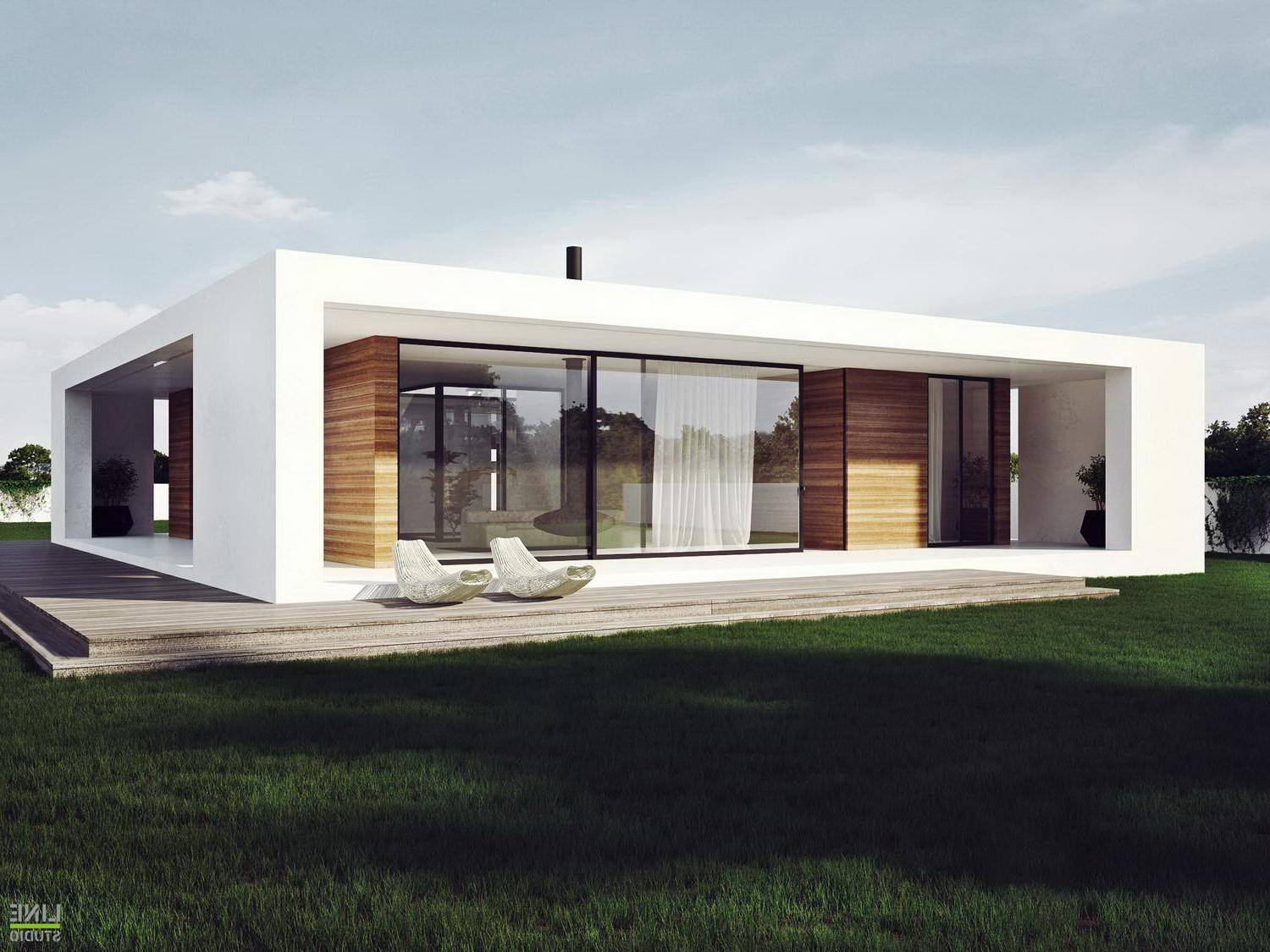 Modern Plan Single Storey House Stylish Design White Facade ... - ^