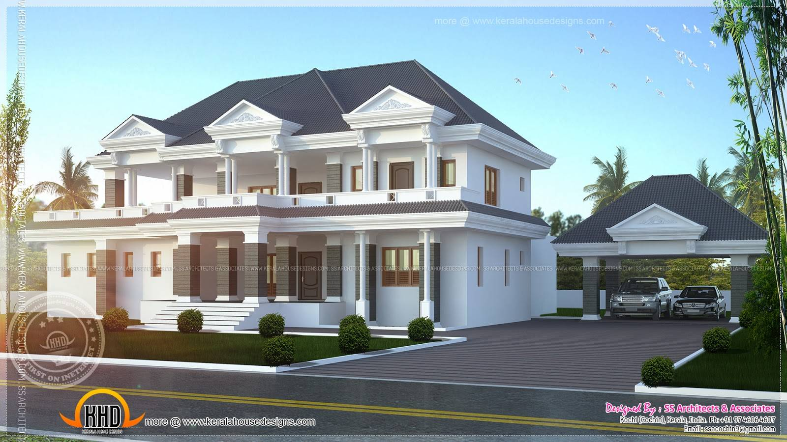 Modern Super Luxury Home Design Kerala Floor Plans House Plans - Luxury home designs and floor plans