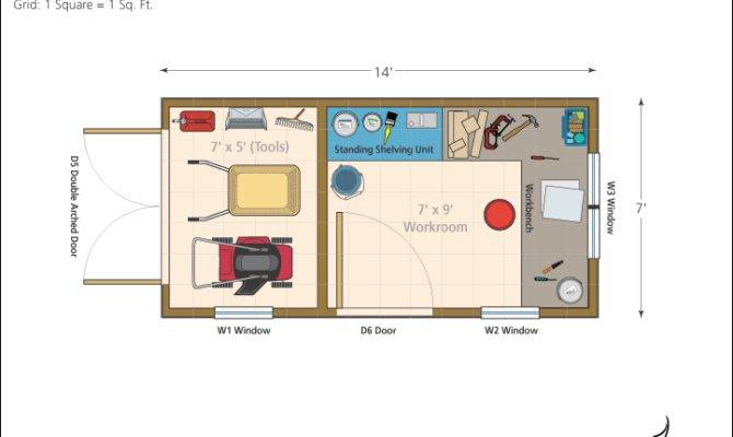 12 X 20 Storage Shed Floor Plans furthermore Tiny House Floor Plans 16 ...