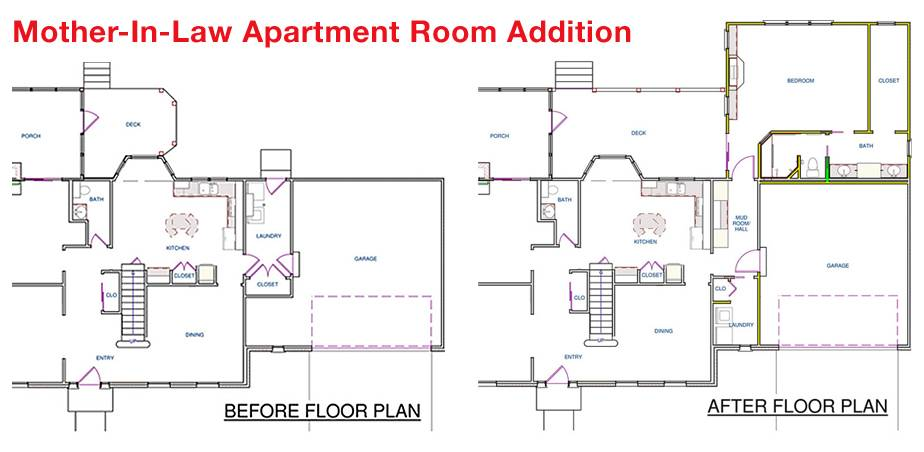 Mother Law Apartment Floorplan House Plans 81828