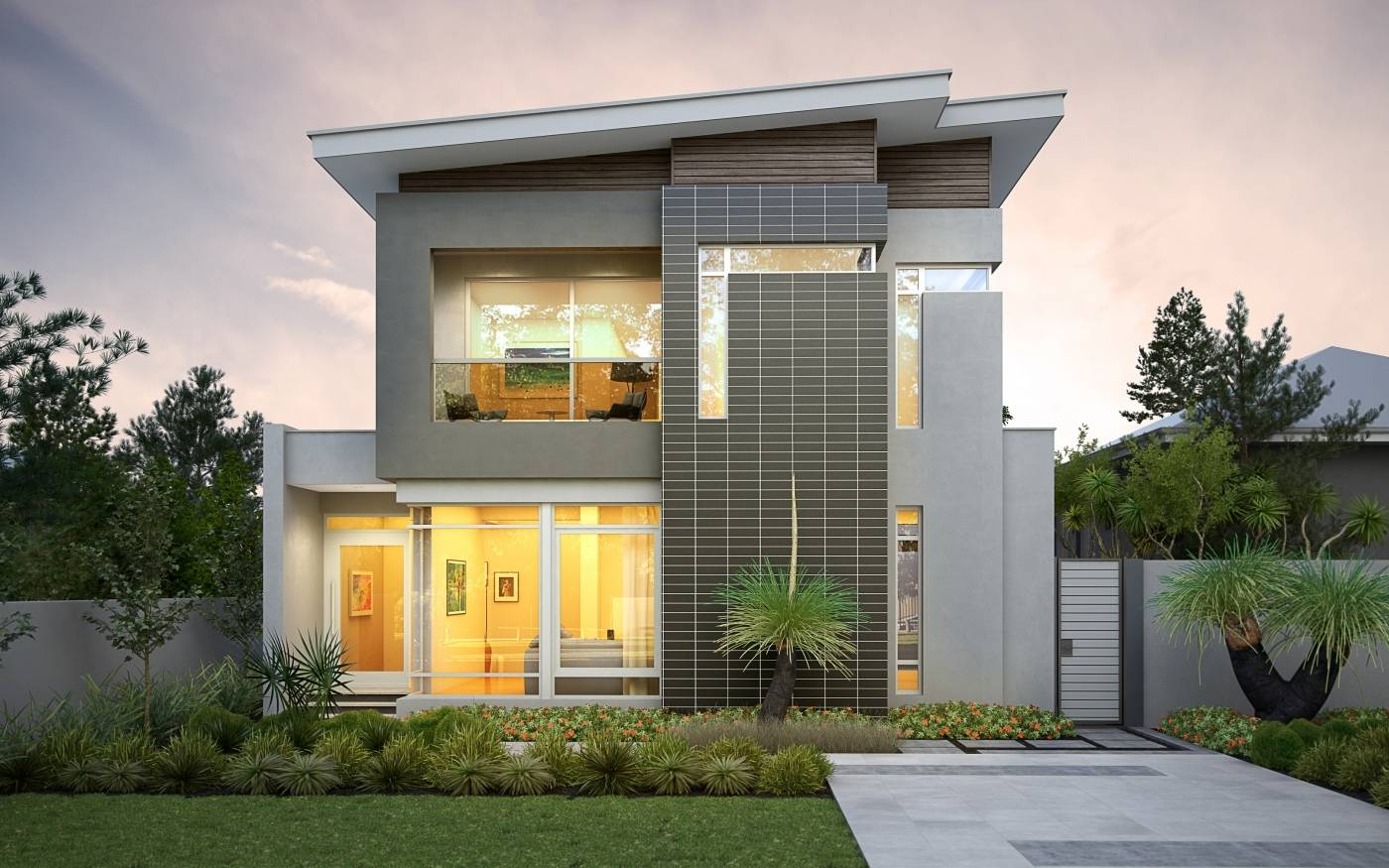 Modern Narrow Lot House Plans - rts - ^