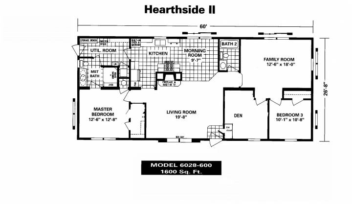 New Mobile Home Floor Plans Manufactured House Plans