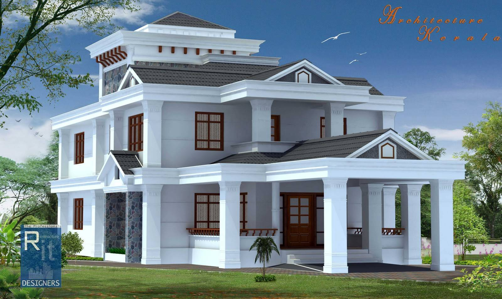 New house style modern house for New home designs kerala