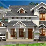 nice sloped roof kerala home design indian house plans - Nice Home Designs