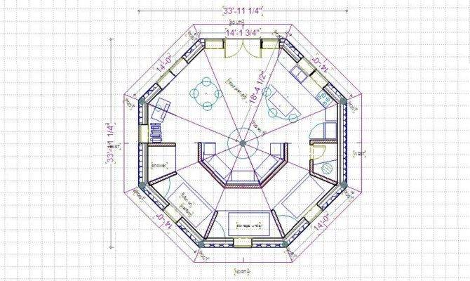 15 harmonious octagon shaped house plans house plans 49691 the octagon 1371 3 bedrooms and 2 baths the house