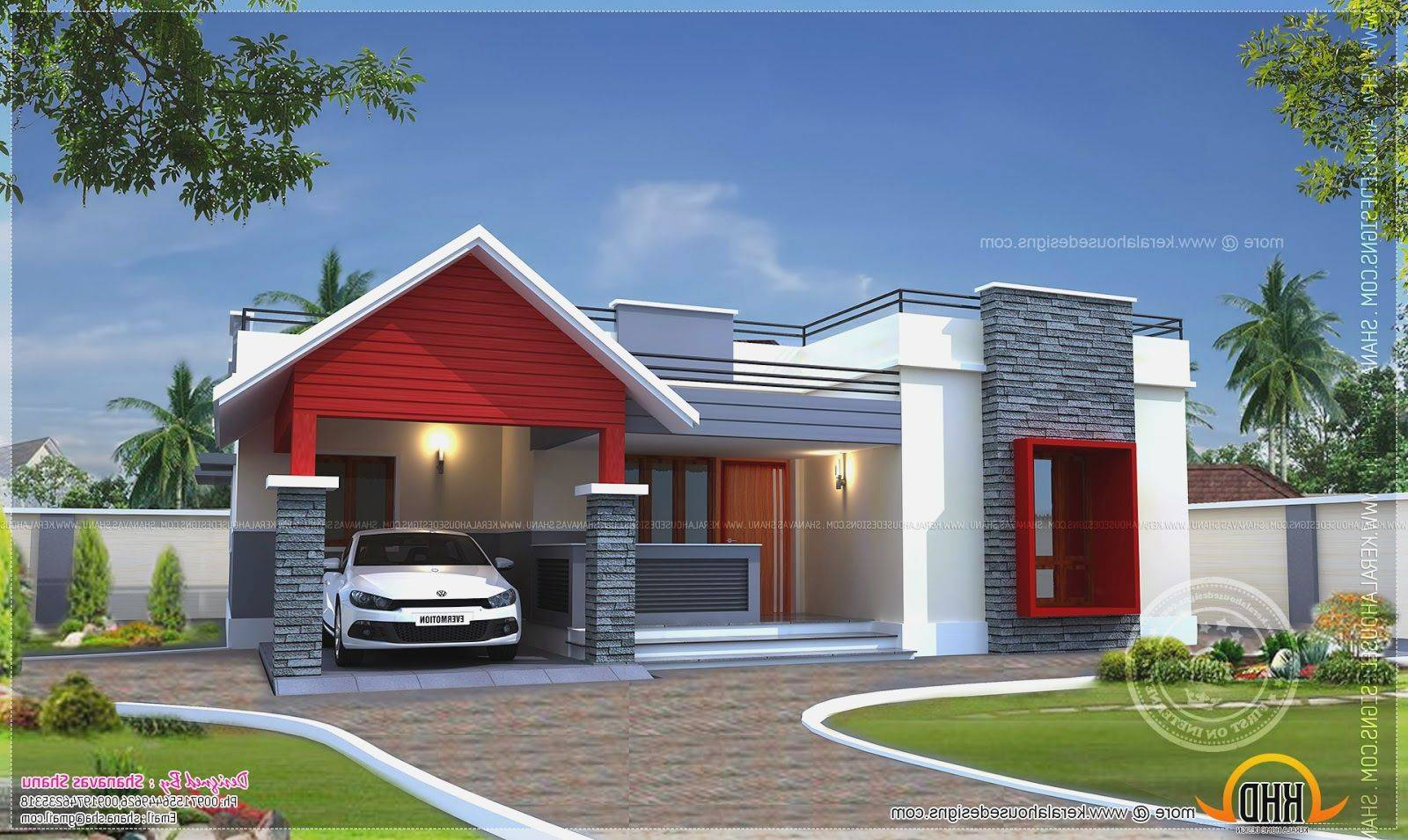 Modern one storey house modern house One floor house plans