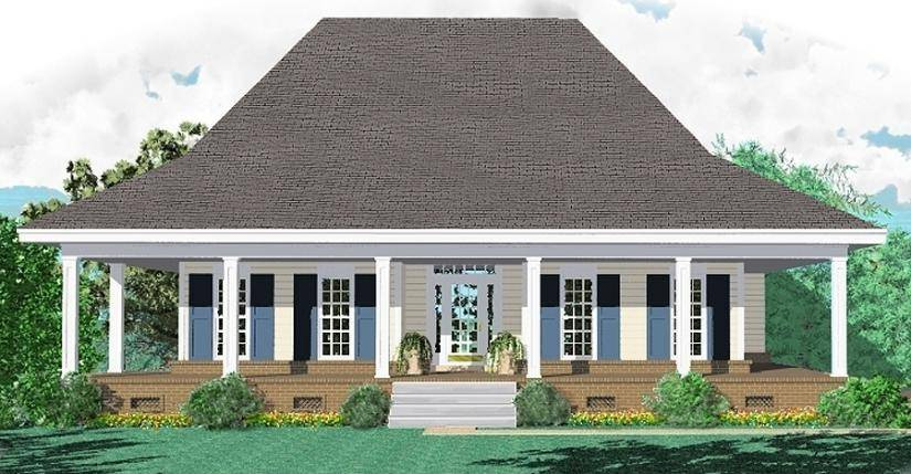 Nice Awe Inspiring One Story Country House Plans Wrap Around Porch Red Roof  House Free Home Designs