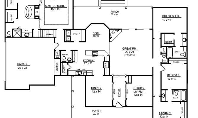 photos ideas for 4 bedroom floor plans one story house plans 23080