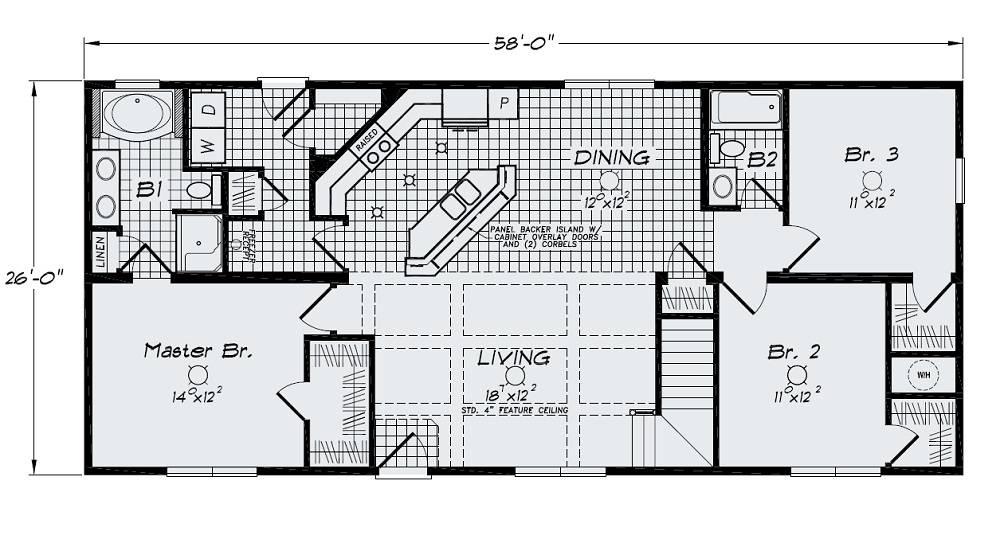 Open Floor Plan Large Kitchen Bar Island Sink Standard House. House Plans With Kitchen Islands   Best Kitchen Island 2017